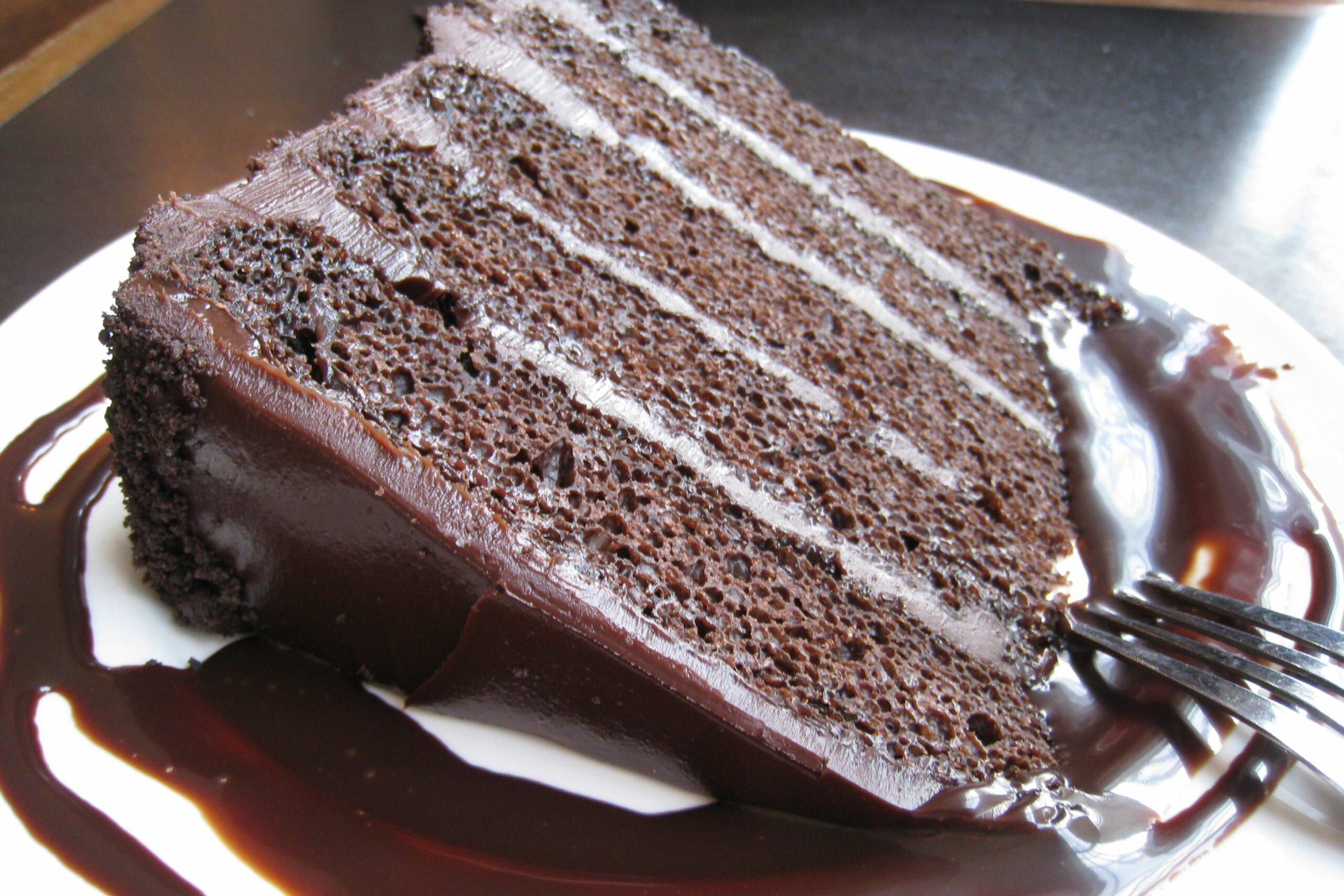 Chocolate Cake with Chocolate Frosting - Recipe Chocolate Layer Cake