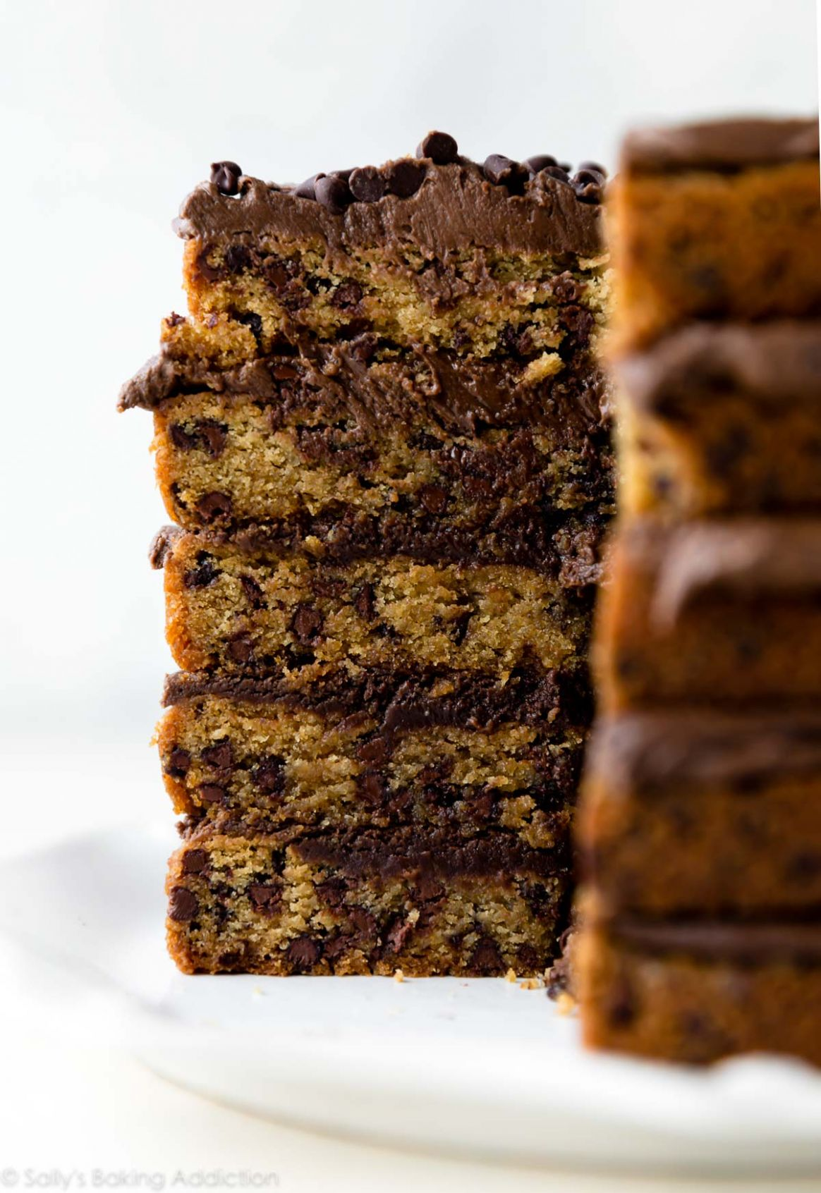 Chocolate Chip Cookie Layer Cake - Recipes Cake With Chocolate Chips