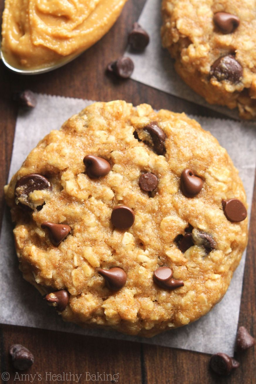 Chocolate Chip Peanut Butter Oatmeal Cookies - Healthy Recipes Cookies