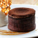 Chocolate Fondant With Nougatine Biscuit And Toffee Sauce – Recipe Chocolate Fondant