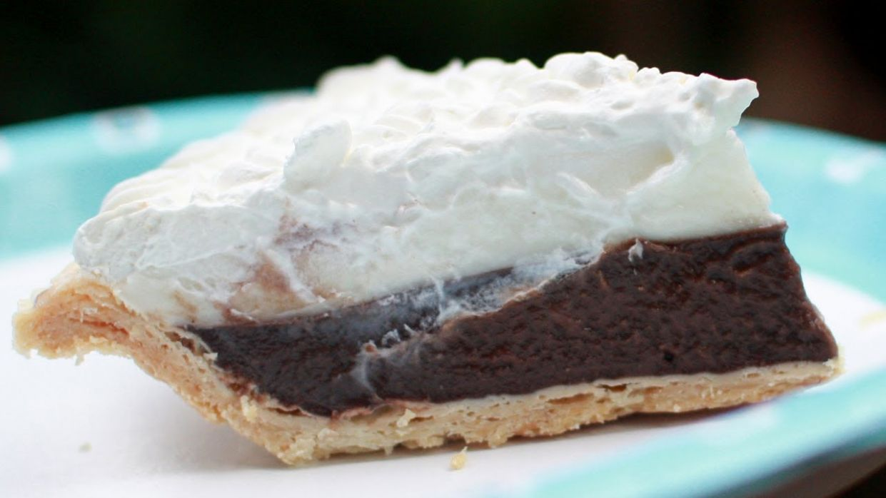 Chocolate Pie - Hawaiian Chocolate Haupia Pie Recipe - Recipe Chocolate Haupia Pie