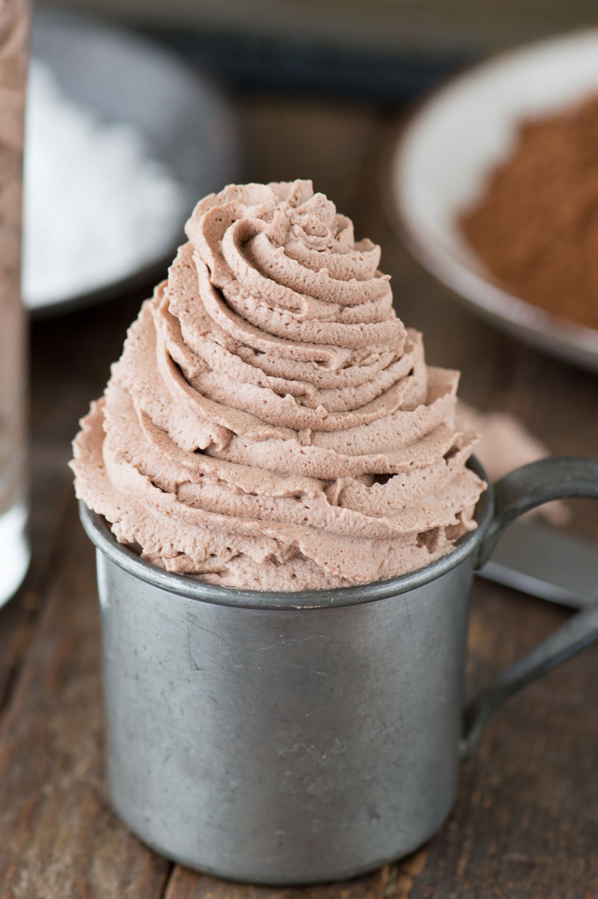 Chocolate Whipped Cream | The First Year - Dessert Recipes That Use Heavy Whipping Cream