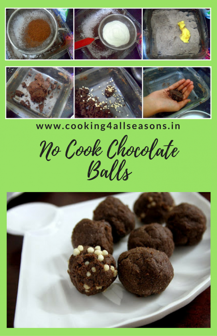 Chocolates Balls ~ Cooking without Fire - Recipes Cooking Without Fire
