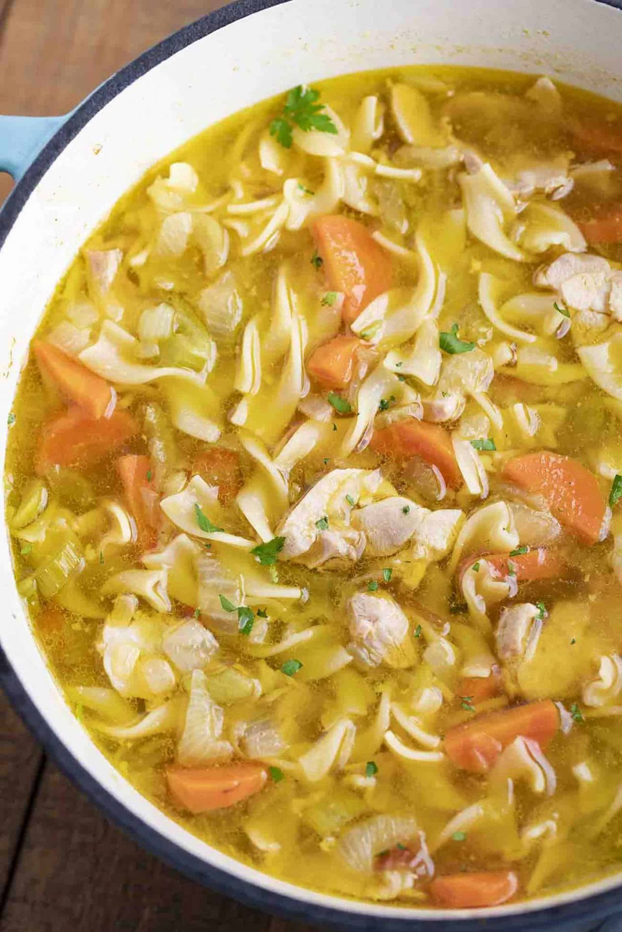 Classic Chicken Noodle Soup - Soup Recipes Using Chicken Stock