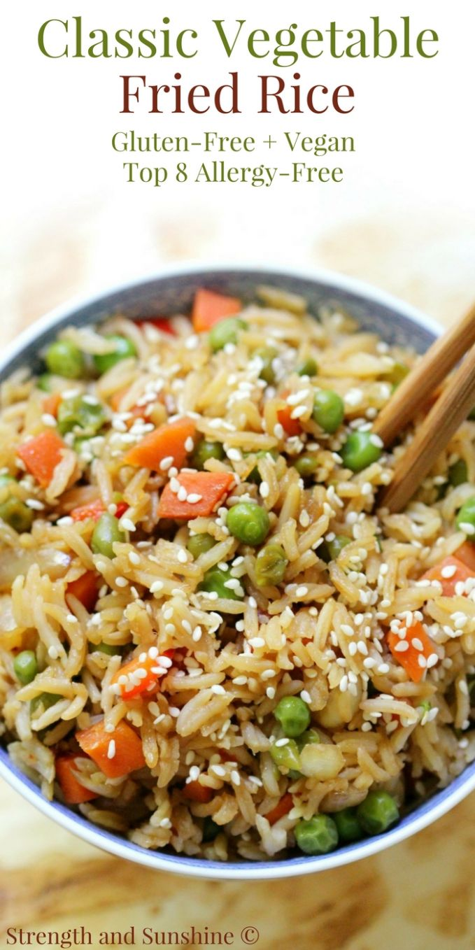 Classic Vegetable Fried Rice (Gluten-Free, Vegan, Allergy-Free) - Rice Recipes Gluten Free