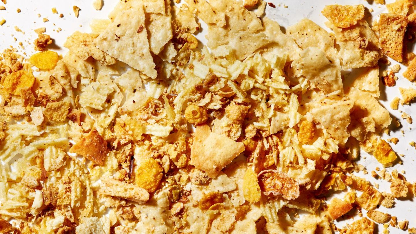 Clever bottom-of-the-bag recipes using broken chips, pretzels and ..