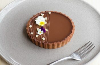 Coconut and Dark Chocolate Tart with Ginger Caramel (Gluten Free)