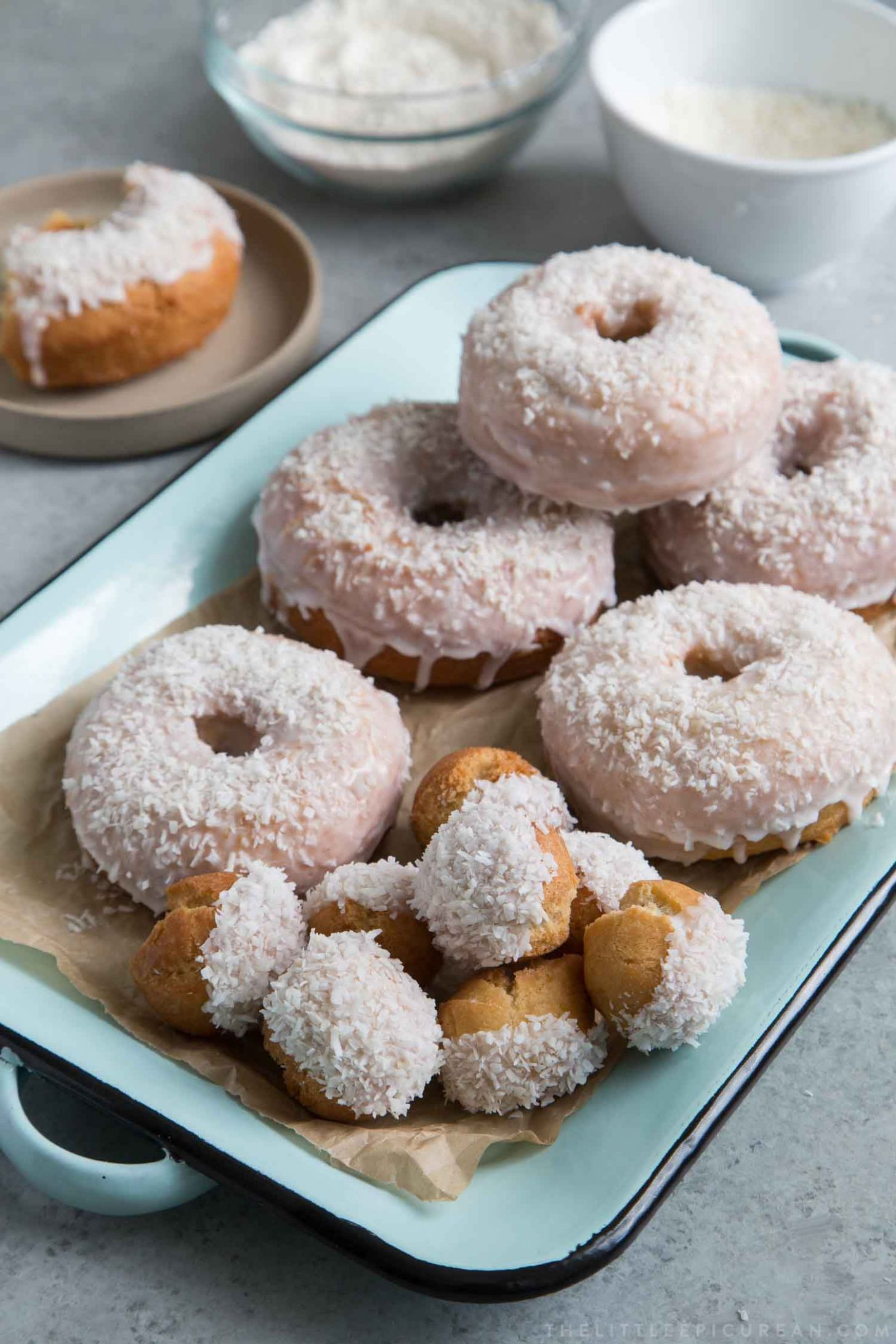 Coconut Cake Doughnuts with Coconut Milk Glaze