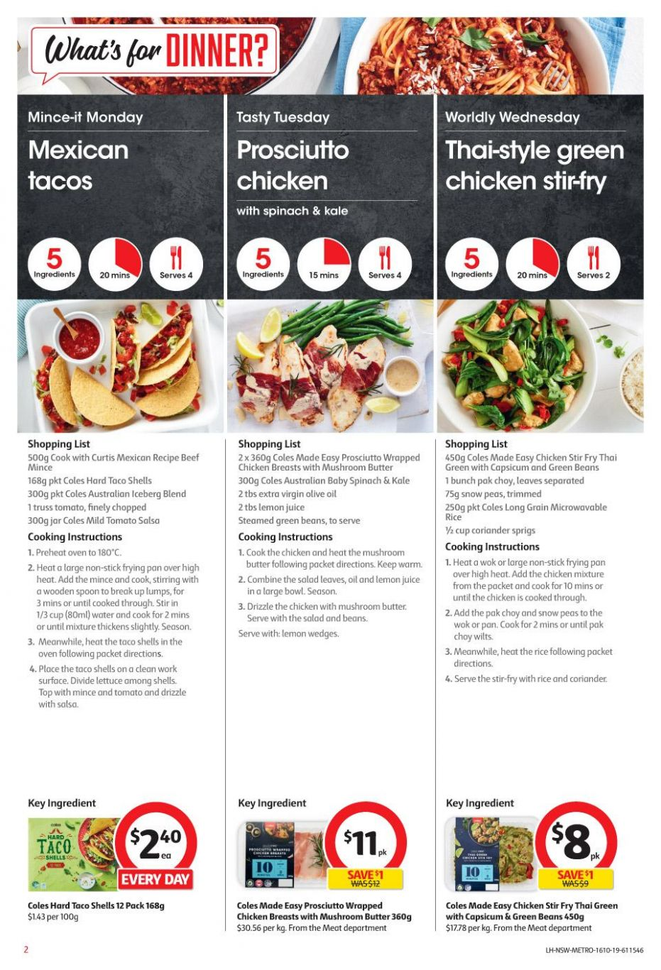 Coles Easy Meals 12 - 12 Oct 12 | Grocery Catalogue - Dinner Recipes Coles