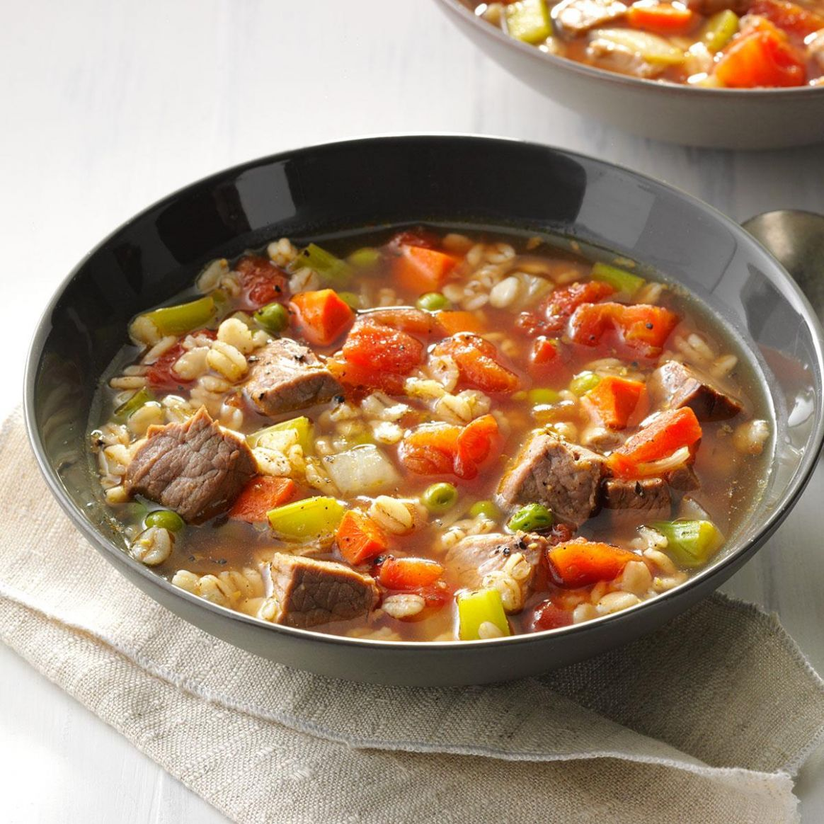 Comforting Beef Barley Soup - Soup Recipes Taste Of Home