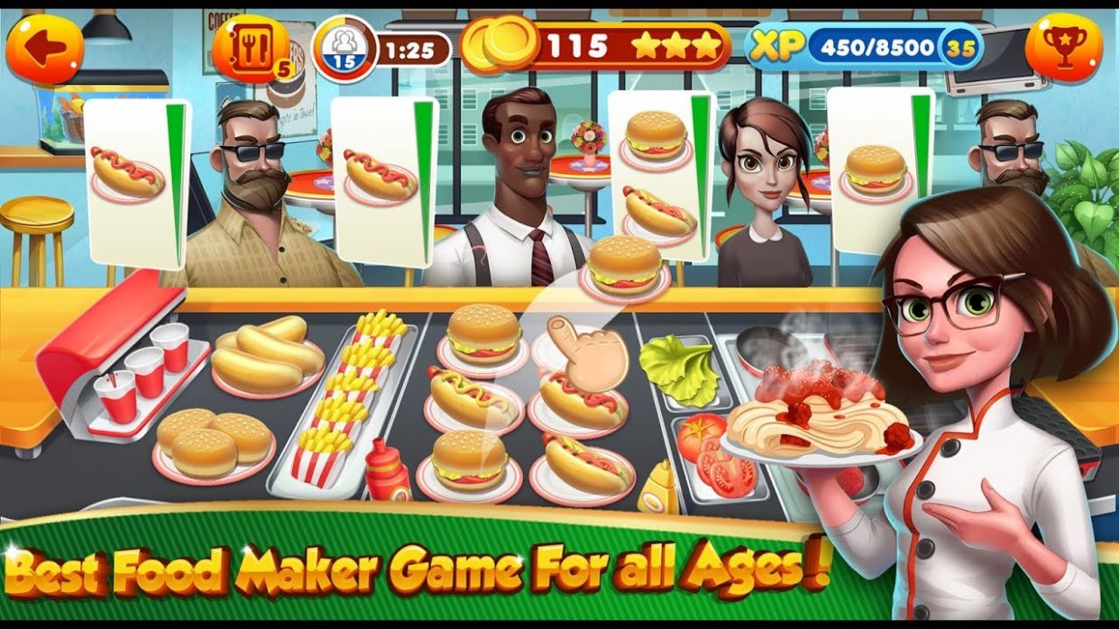 Cooking Games Chef Burger Food Kitchen Restaurant / Children / Baby /  Android Gameplay Video - Cooking Recipes Games Free Download