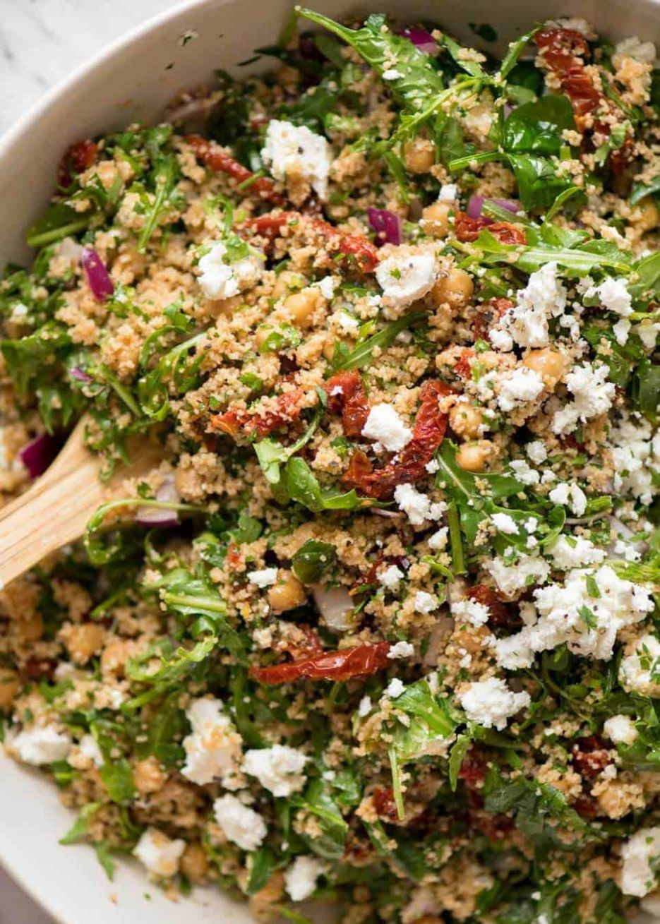 Couscous Salad with Sun Dried Tomato and Feta - Recipes Couscous Salad