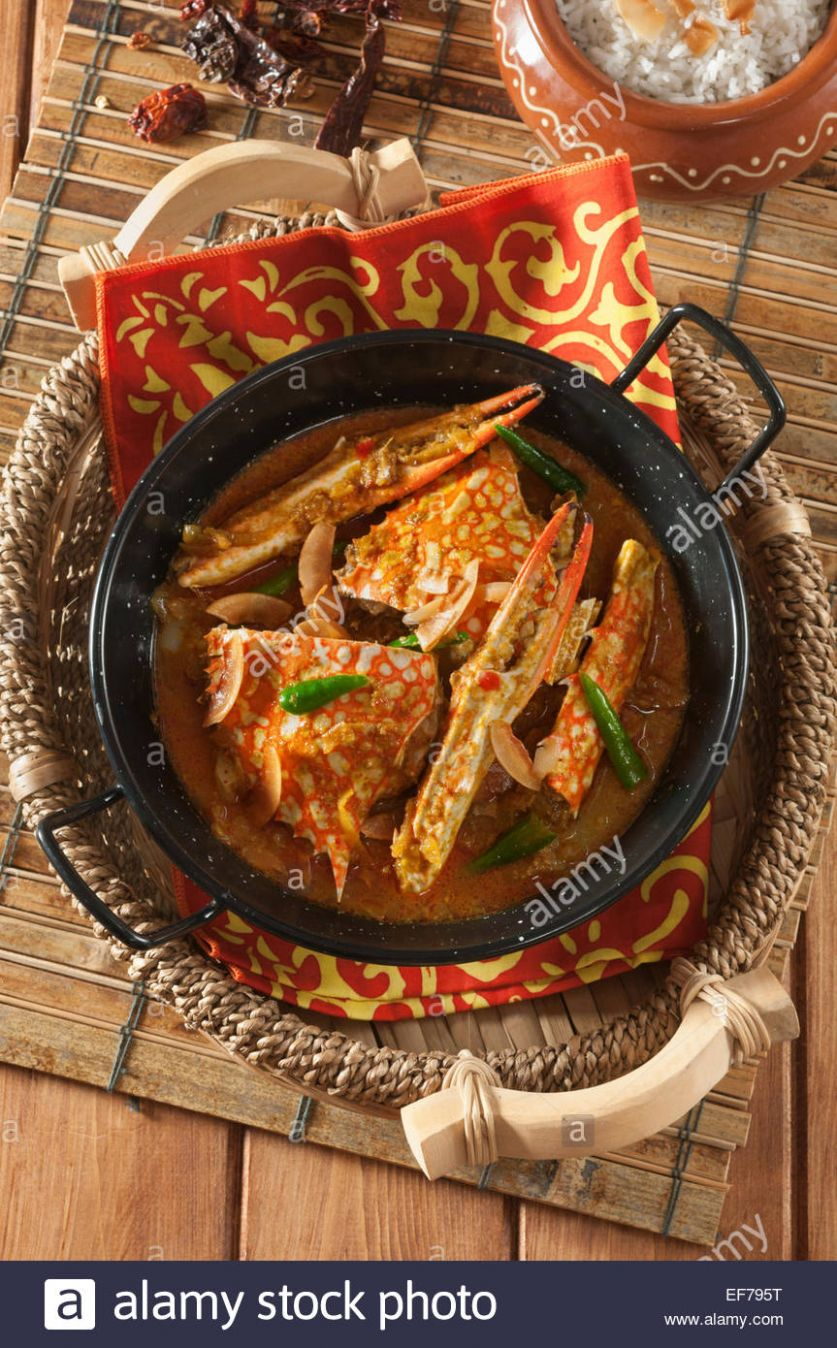 Crab Xec Xec. Goan crab and coconut curry. Goa India Stock Photo ..
