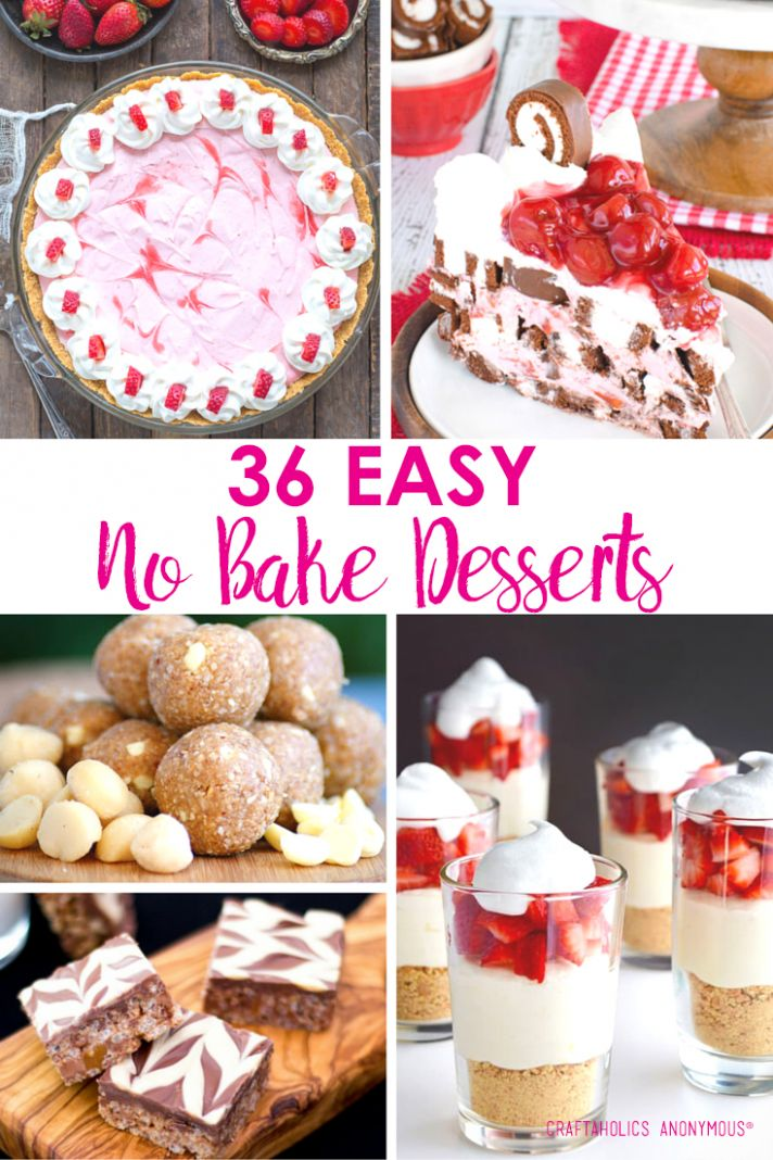 Craftaholics Anonymous® | 10+ No Bake Desserts for Summer