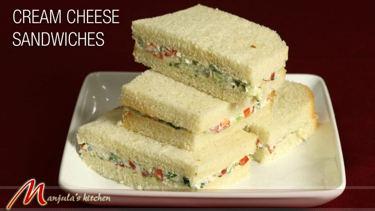 Cream Cheese Cucumber Sandwiches - Sandwich Recipes For Toddlers Indian