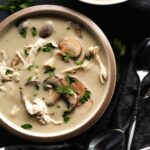 Creamy Chicken and Mushroom Soup (Paleo, Dairy Free)