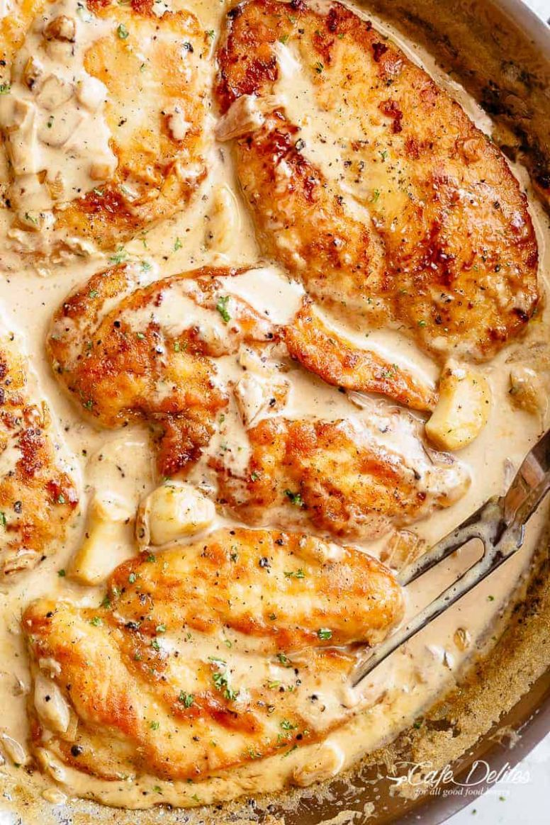 Creamy Garlic Chicken Breasts - Cafe Delites - Recipes Chicken Breast Boneless
