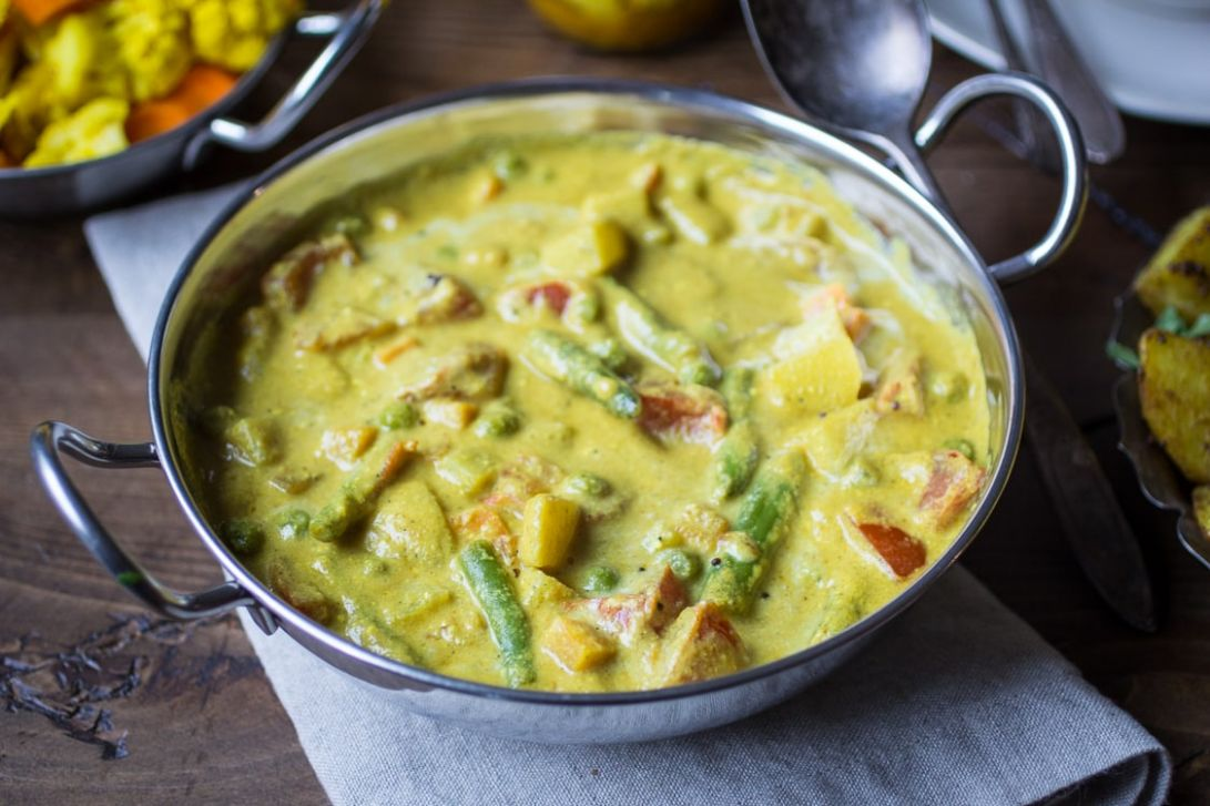 Creamy Indian Vegetable Korma - The Wanderlust Kitchen - Recipes Vegetable Korma