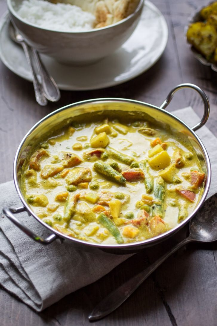 Creamy Indian Vegetable Korma - The Wanderlust Kitchen - Vegetable Recipes With Fresh Cream