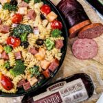 Creamy Pasta Salad With Summer Sausage – Blackberry Babe – Recipes Using Summer Sausage