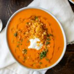 Creamy Roasted Red Pepper Soup With Crispy Fried Lentils – Recipes Soup Peppers