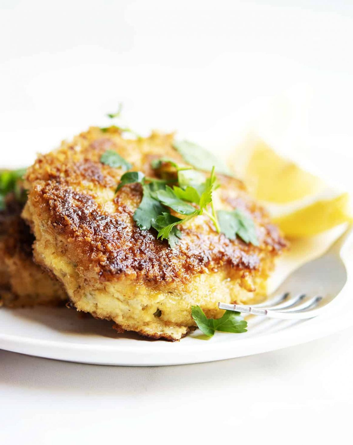 Crispy Cod Fish Cakes - Pinch and Swirl
