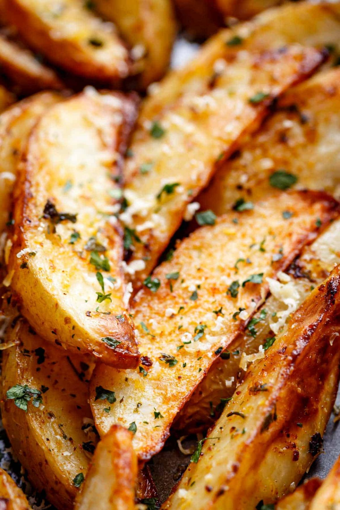 Crispy Garlic Baked Potato Wedges - Potato Recipes In Oven