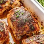 Crispy Oven Baked Chicken Thighs – Recipe Chicken Oven Baked