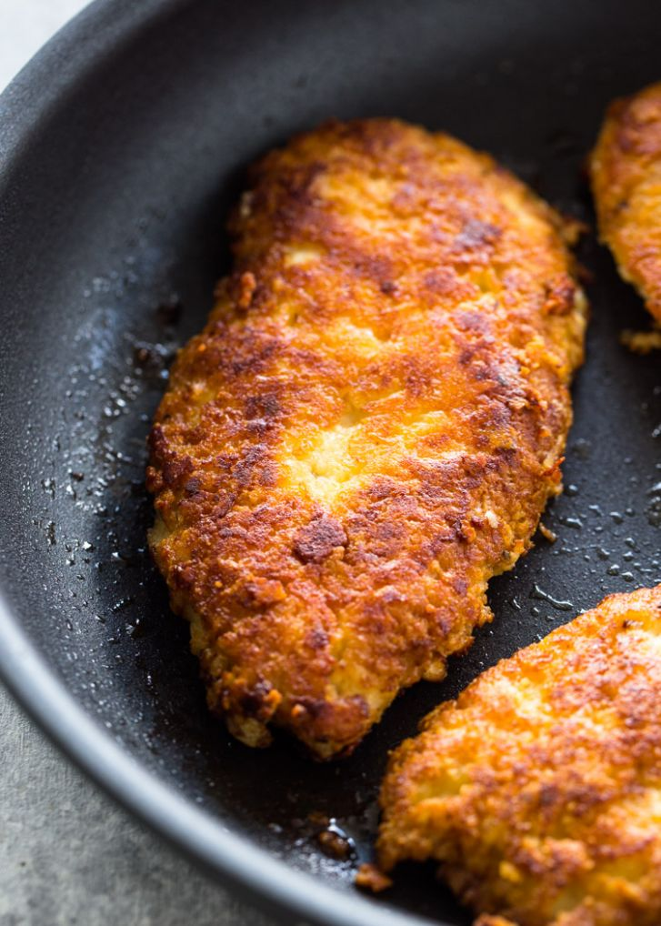 Crispy Parmesan Crusted Chicken - Recipes Chicken Breast Cutlets