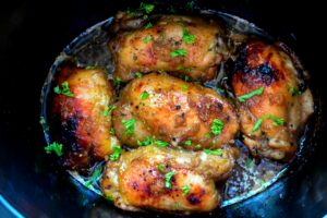 Crock Pot Brown Sugar Garlic Chicken!