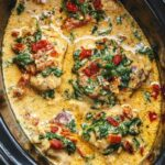 CrockPot Tuscan Garlic Chicken With Spinach And Sun Dried Tomatoes – Slow Cooker Recipes Chicken Breast Uk