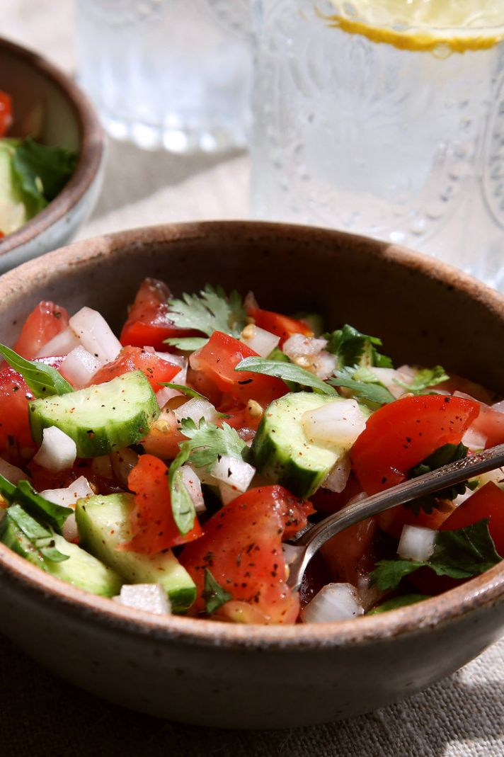 Cucumber and Tomato Salad With Cilantro and Mint - Salad Recipes Nytimes