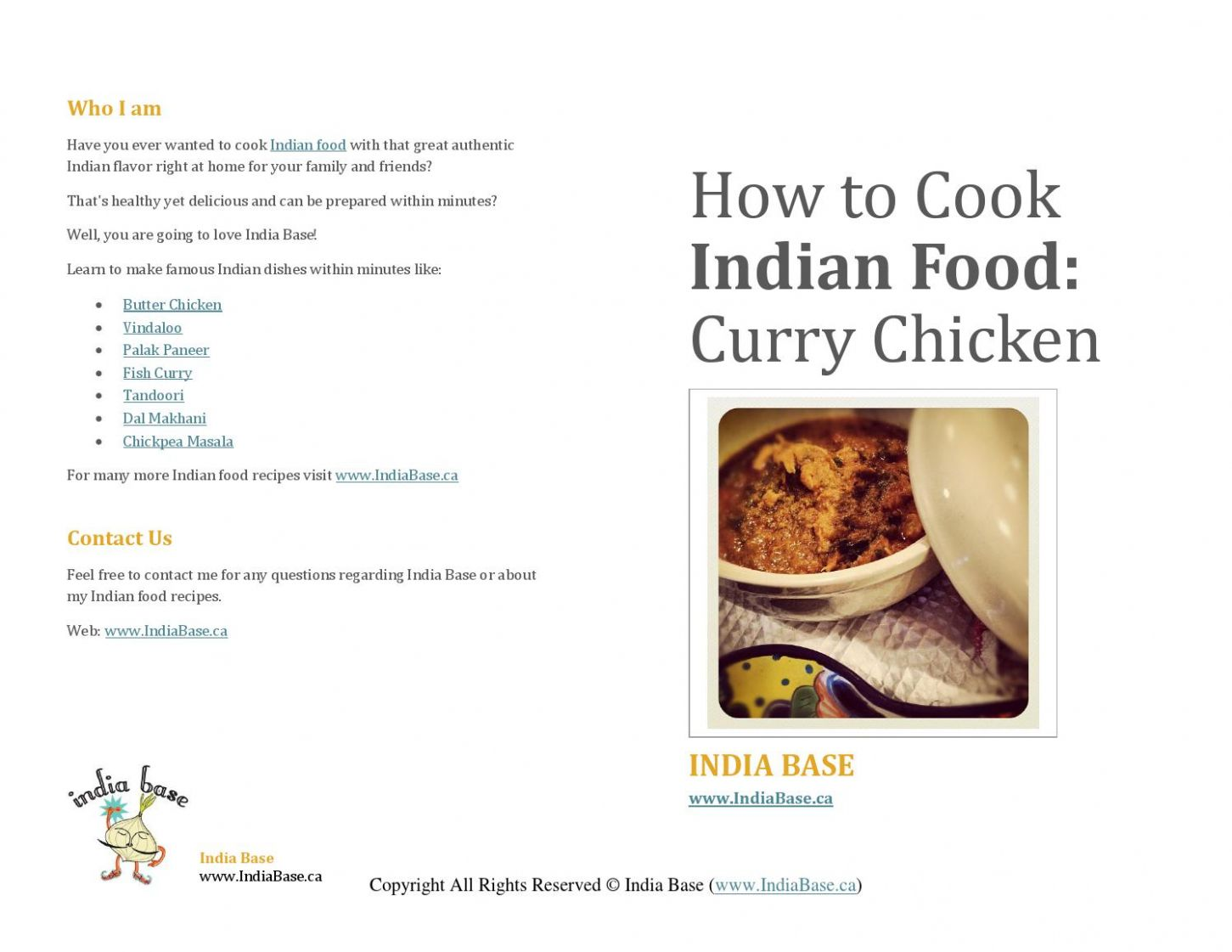 Curry Chicken - Indian Food Recipe by IndianFood - issuu - Food Recipe Questions