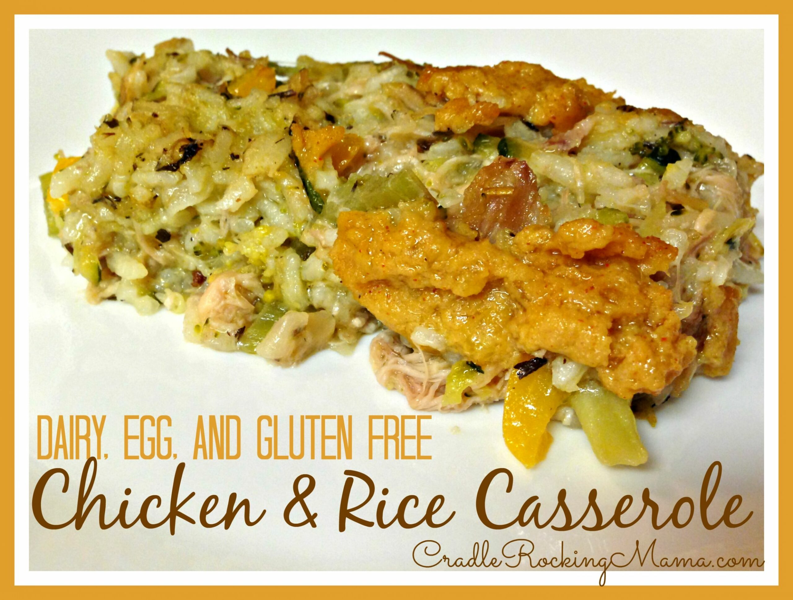 Dairy, Egg & Gluten Free Chicken & Rice Casserole - Rice Recipes Gluten Free