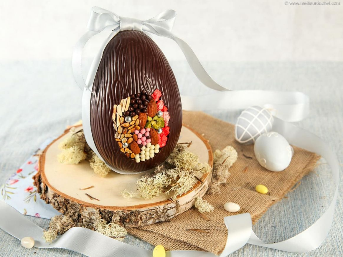 Dark Chocolate Easter Egg with Inclusions - Recipe Egg Easter