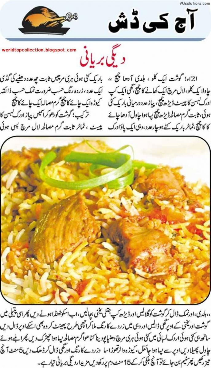 Degi Biryani | Biryani recipe, Cooking recipes, Lean and green meals - Recipes In Urdu Biryani