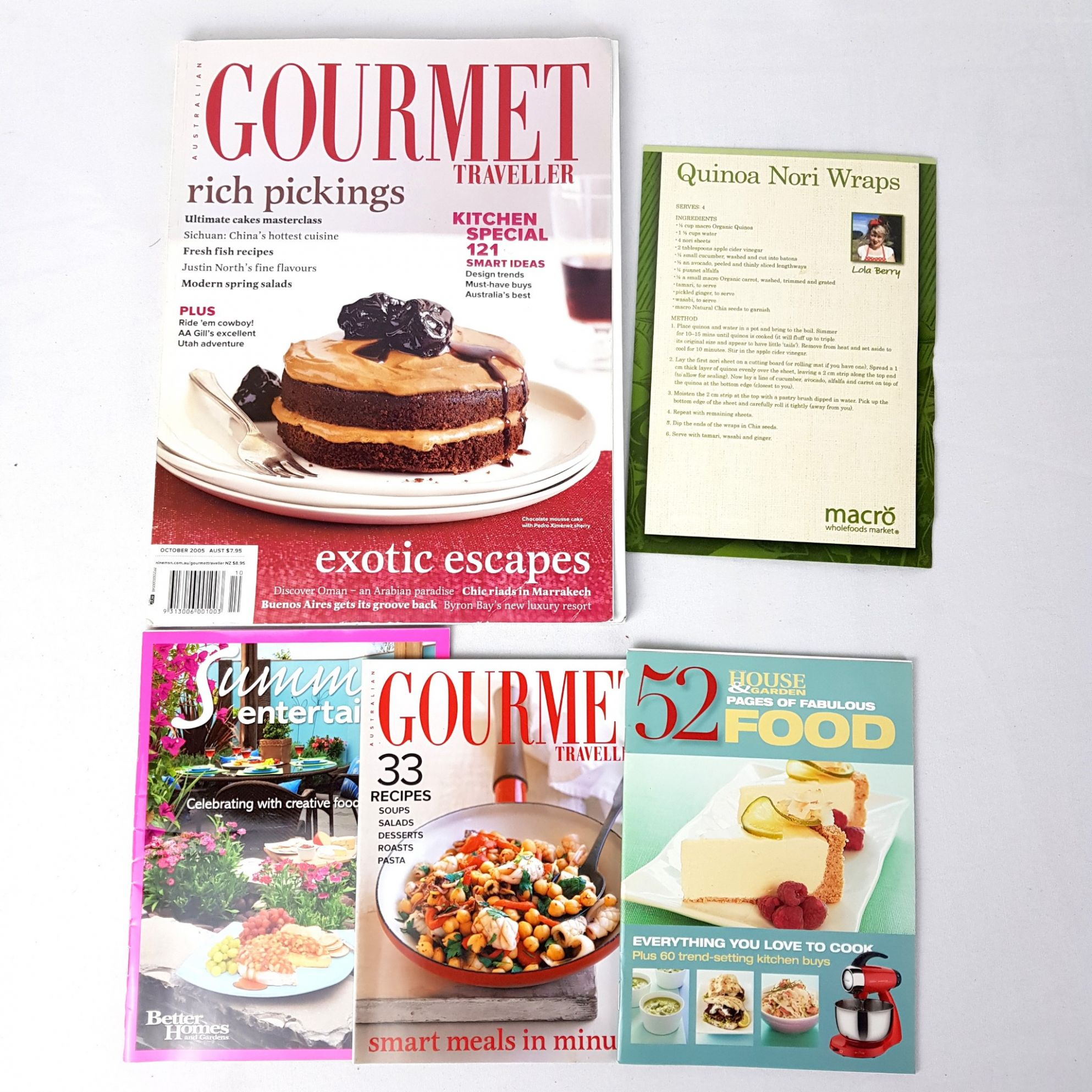 Details about 11x Cooking Baking Desserts Gourmet Traveller Australia  Magazine Recipe Book Card - Dessert Recipes Gourmet Traveller