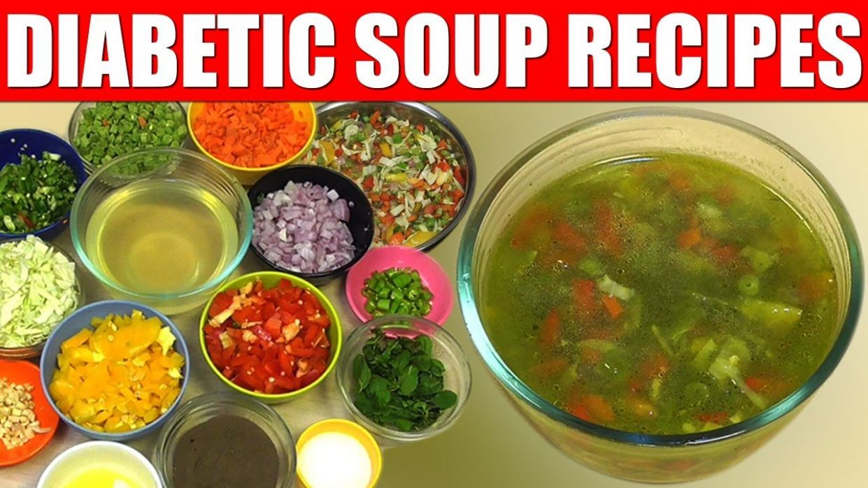 Diabetic Diet-How to make simple Basic vegetable soup Recipe ..