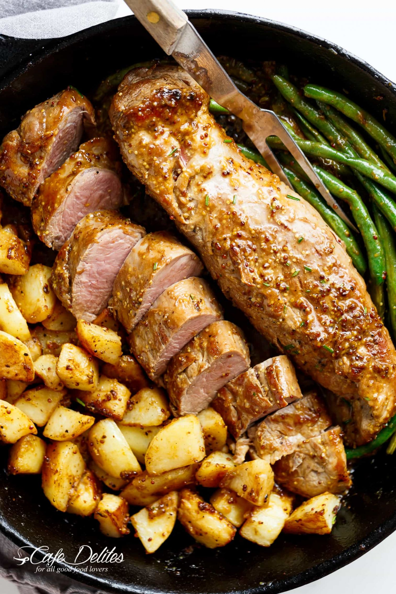 Dijon Garlic Pork Tenderloin - Recipe Pork Dijon