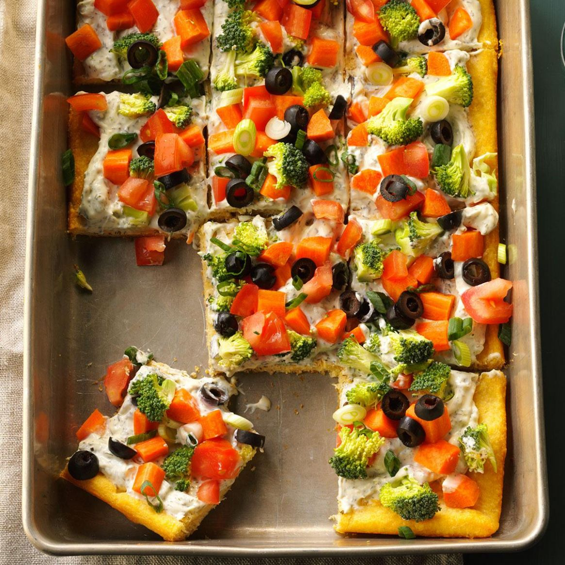 Dilly Veggie Pizza - Recipes Vegetable Pizza