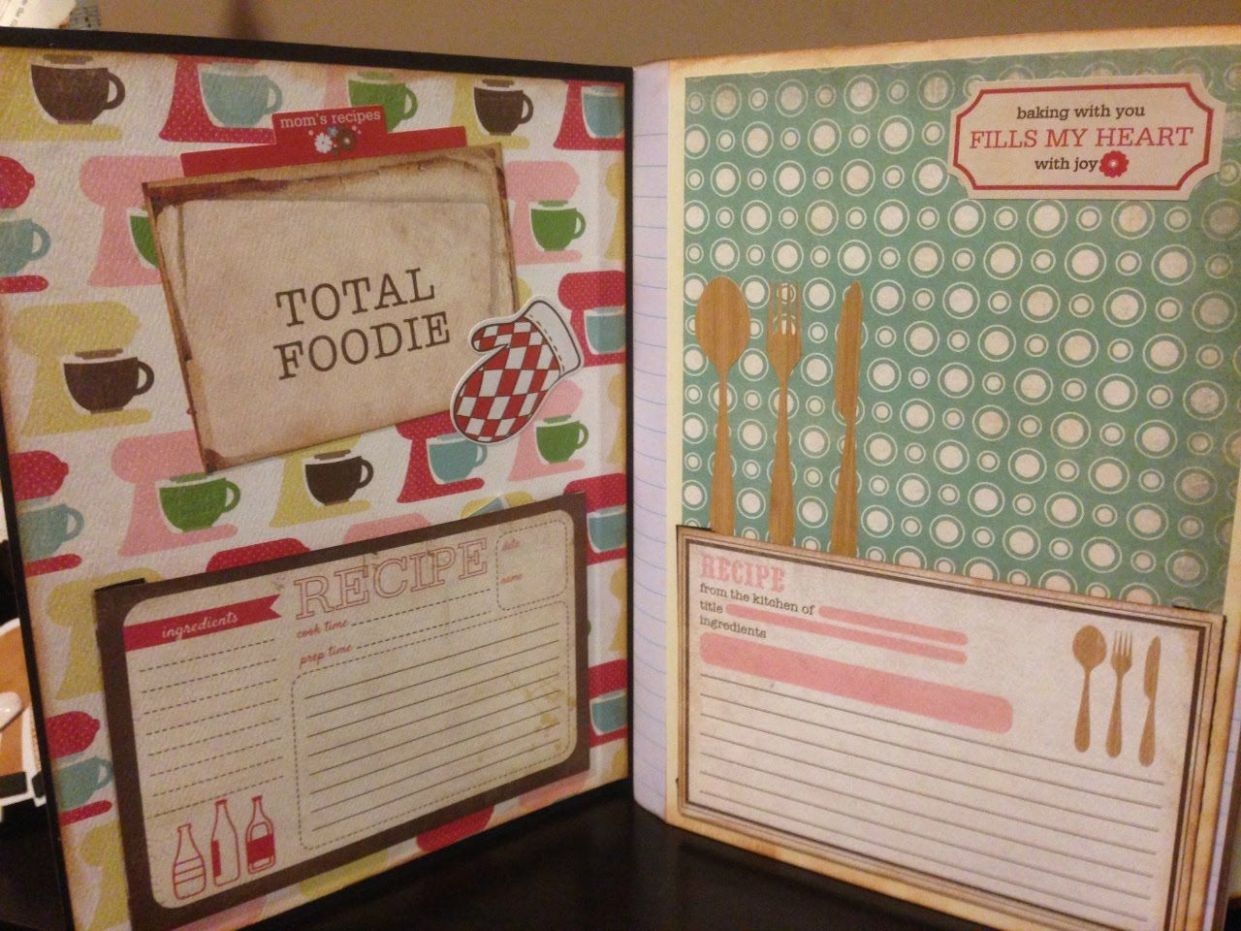 DIY Altering a Compistion Notebook to A Recipe Book Part 9 final ..
