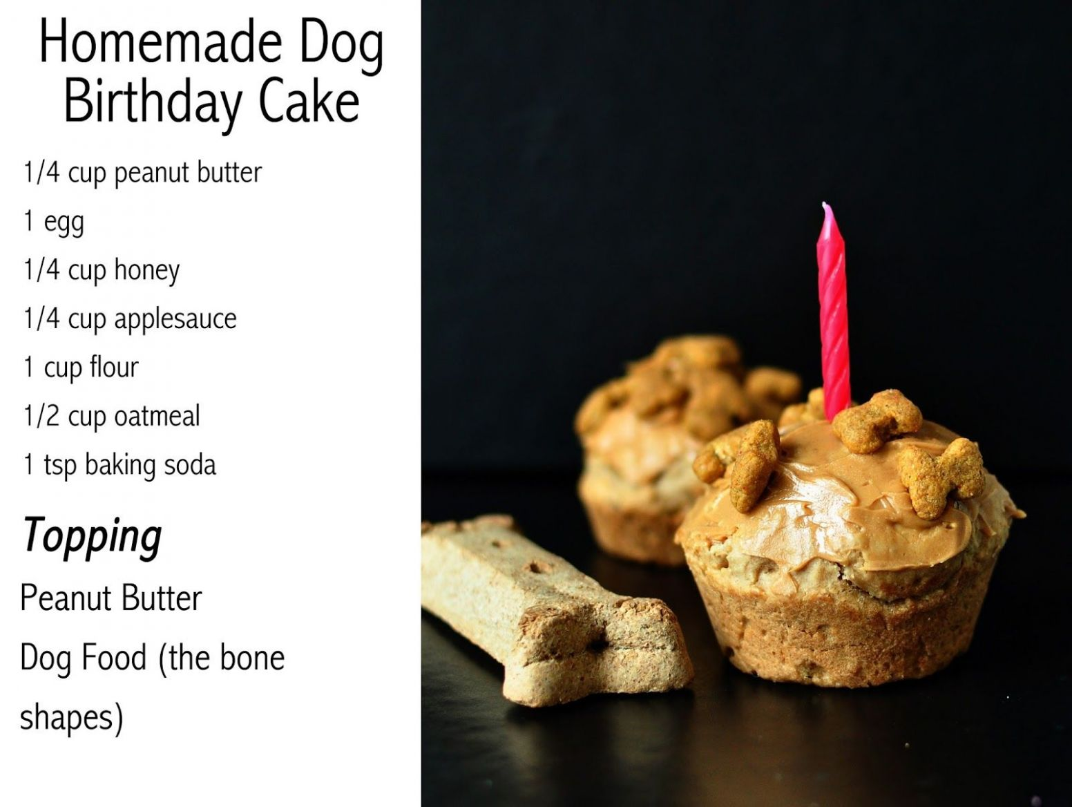 Dog homemade cupcakes or cake . Peanut butter, oatmeal, egg ..