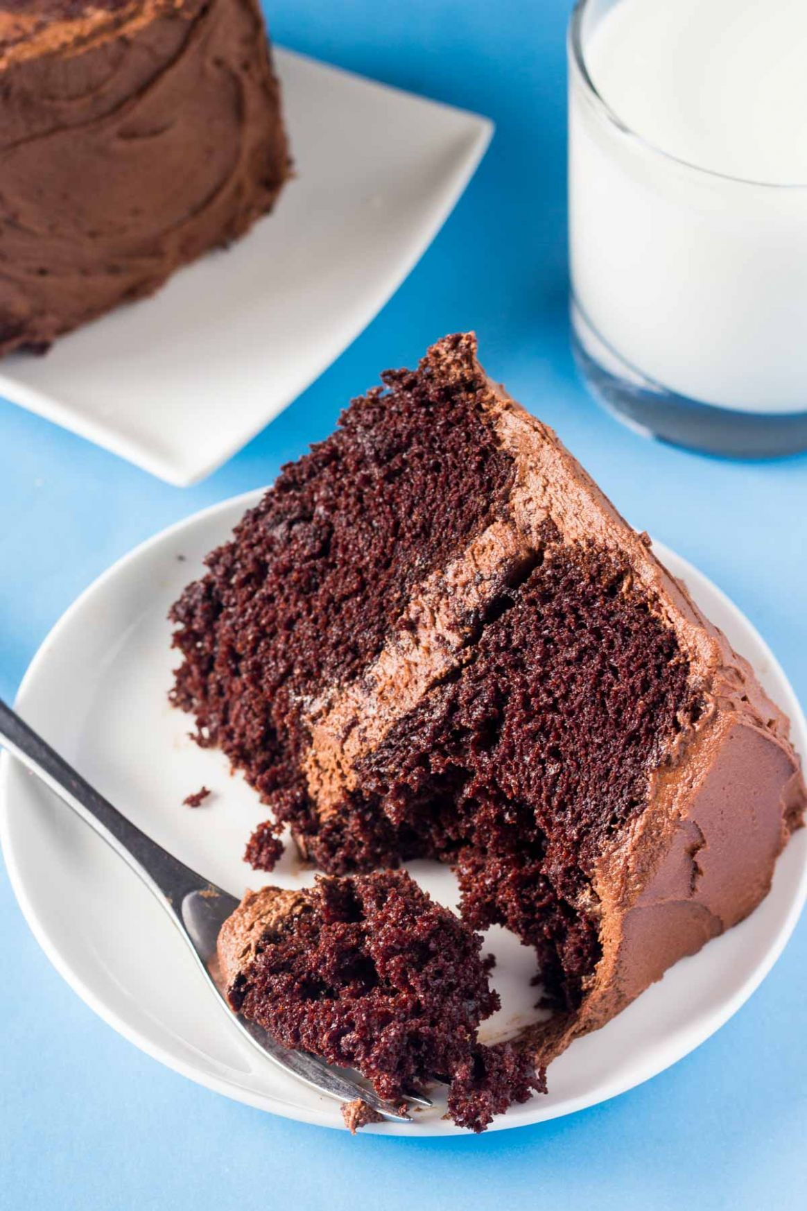 Double Chocolate Layer Cake - Recipe Chocolate Layer Cake