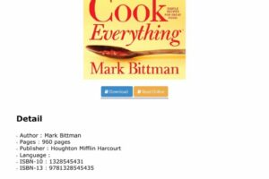 DOWNLOAD How to Cook Everything: Simple Recipes for Great Food ...