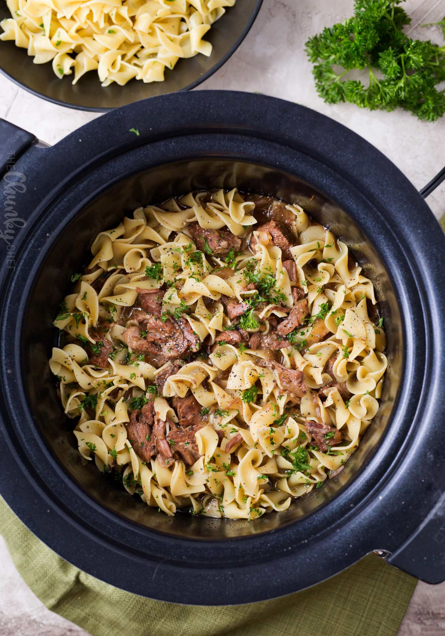 Drunken Slow Cooker Beef Stew (Beef Carbonnade) - The Chunky Chef - Summer Recipes With Stew Meat