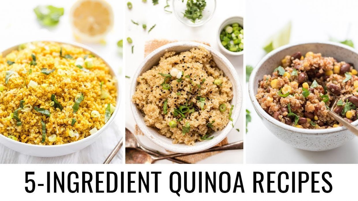 Easy 10 INGREDIENT Quinoa Recipes 👋🏻 vegan & gluten-free - Easy Recipes Quinoa
