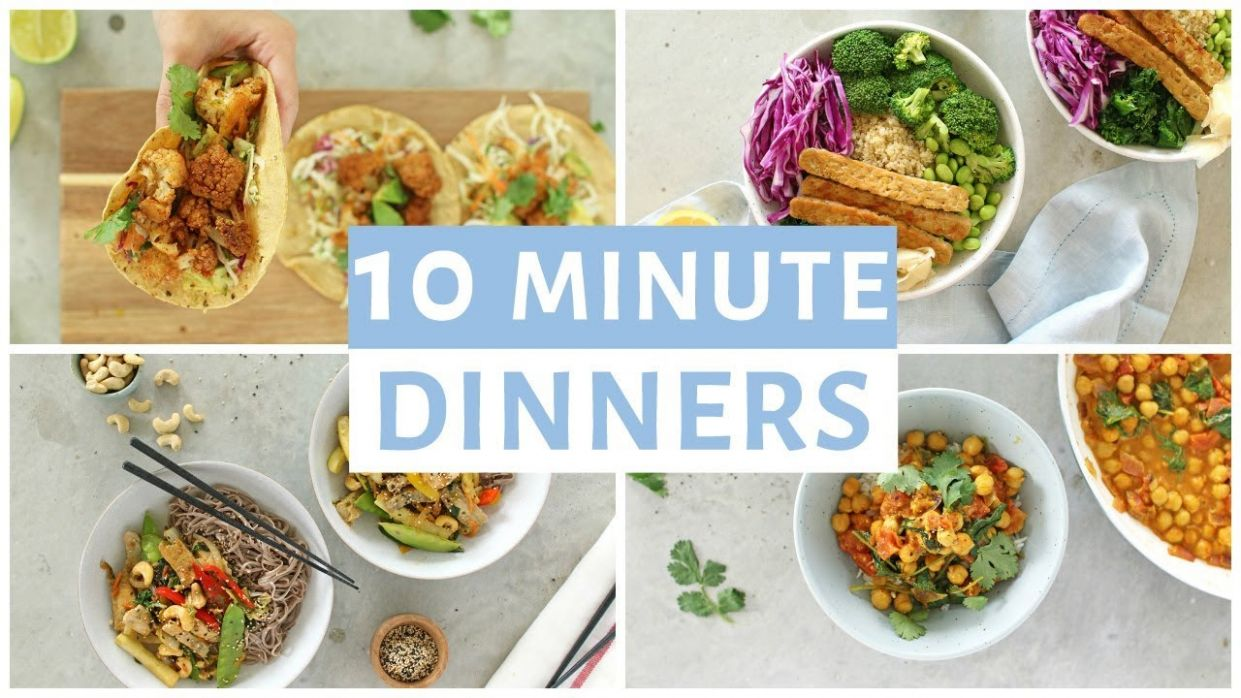 EASY 10 Minute Dinner Recipes | Healthy Dinner Ideas - Simple Recipes Healthy Eating