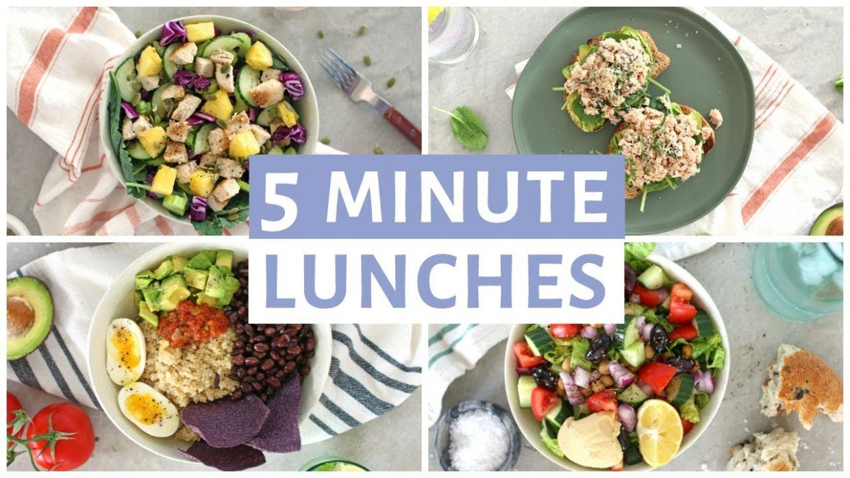 EASY 10 Minute Lunch Recipes | Healthy Lunch Ideas - Simple Recipes Healthy Eating
