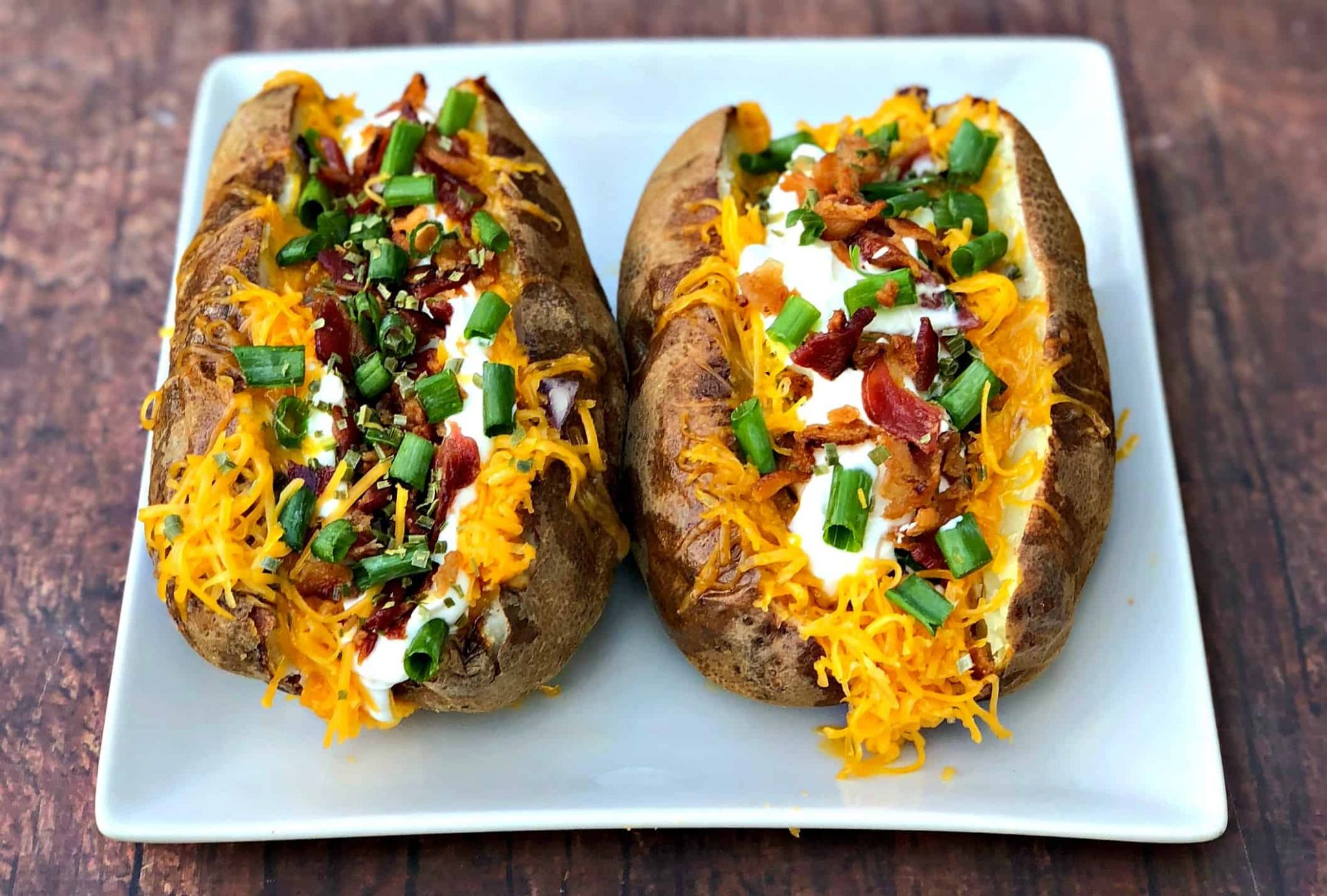 Easy, Air Fryer Loaded Stuffed Baked Potatoes - Baked Potato Recipes Quick