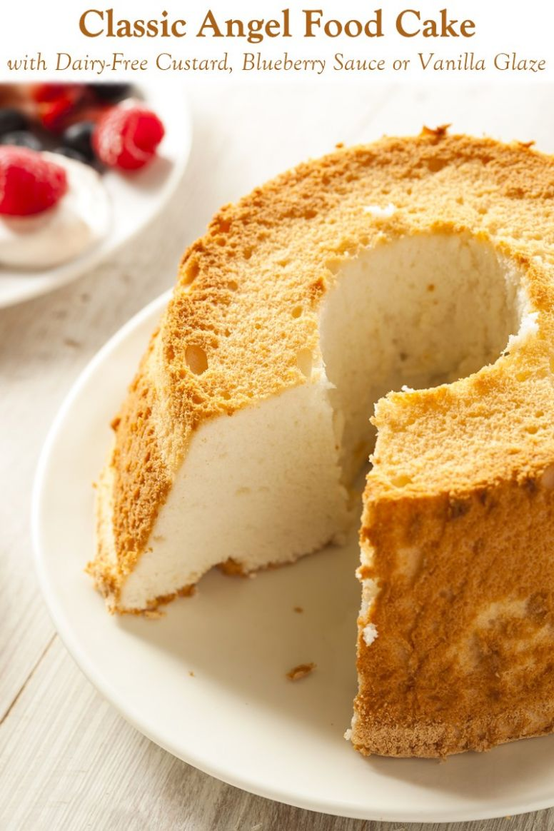 Easy Angel Food Cake with Dairy-Free Toppings - Cake Recipes Gluten And Dairy Free
